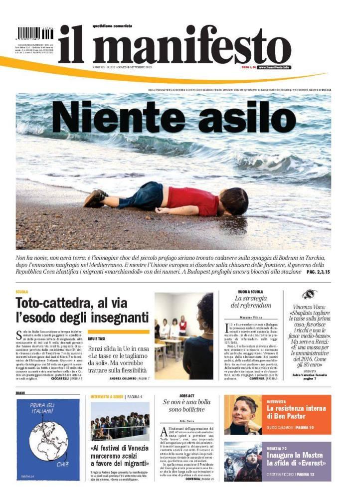 manifesto copertina immigrazione