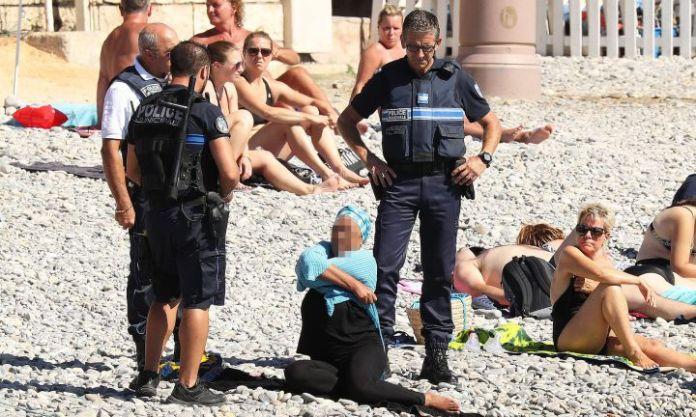 polizia francia donna islamica